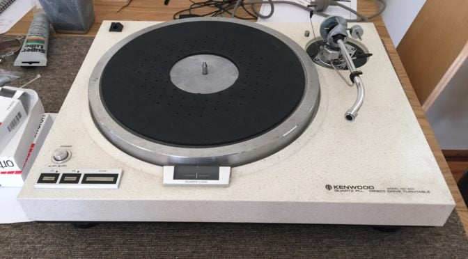 Kenwood KD-600 Direct-Drive Turntable Service & Set-up